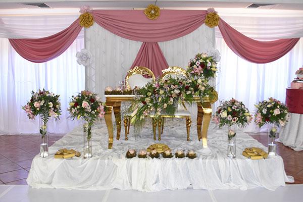 Batterboys Wedding Head Table